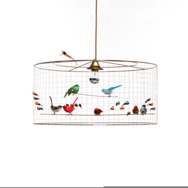 Bird pendant lampshade handmade large pendant light copper wire bird pendant lampshade handmade large pendant light copper wire light with feather birds restoration yard greentooth Image collections