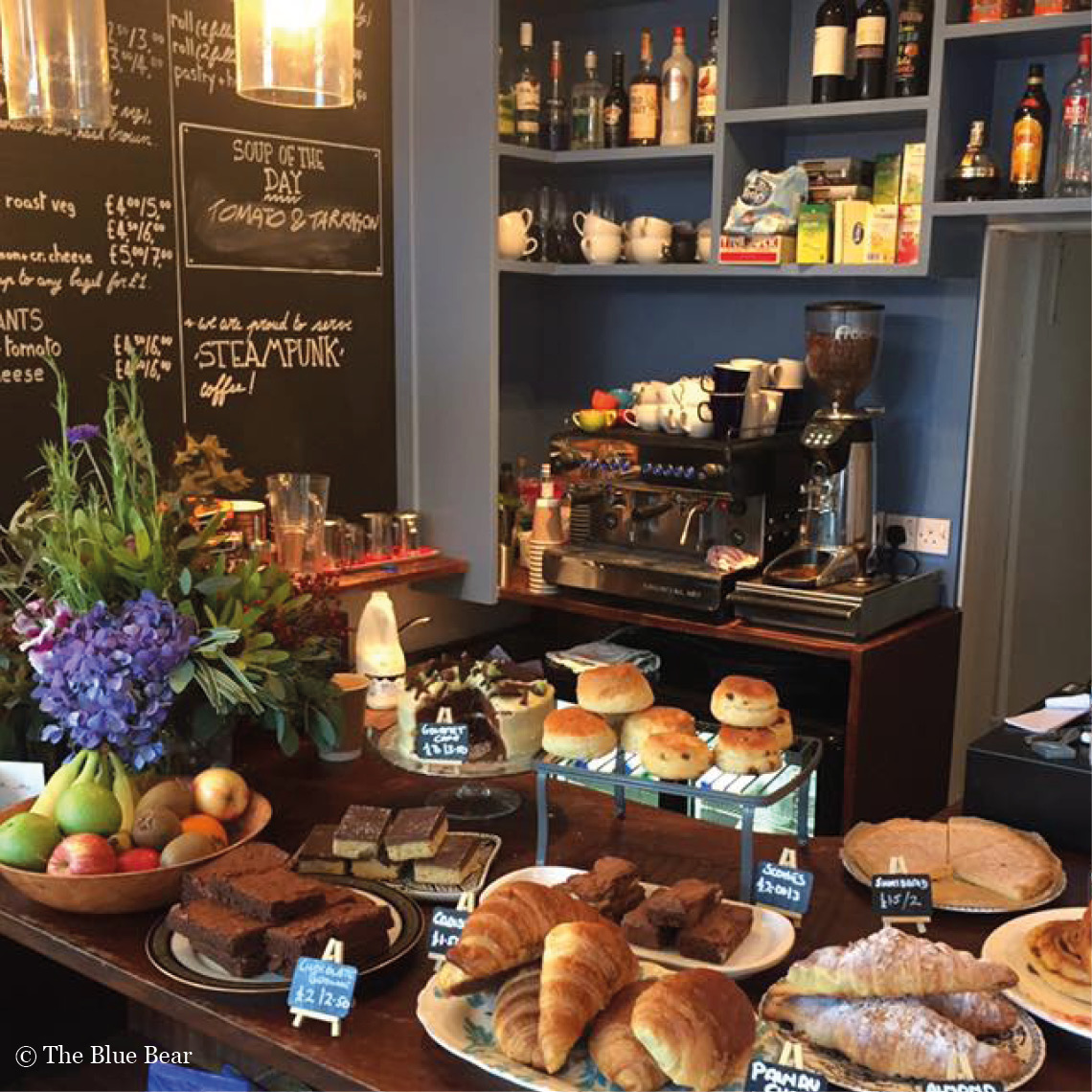 Best brunch in Edinburgh - picture of scones, pastries and fruit