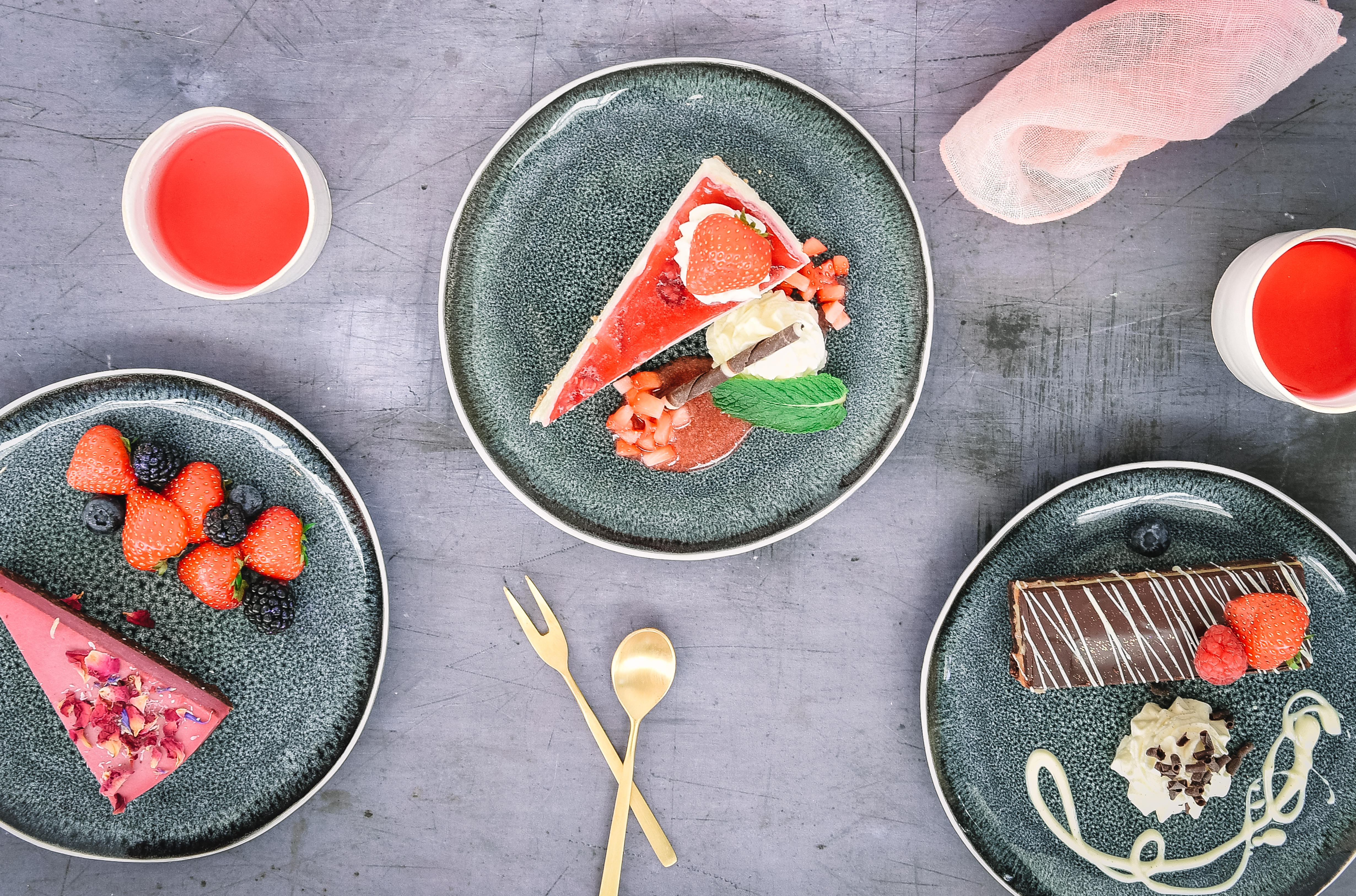 Delicious desserts for your choice of menu when private dining at Restoration Yard