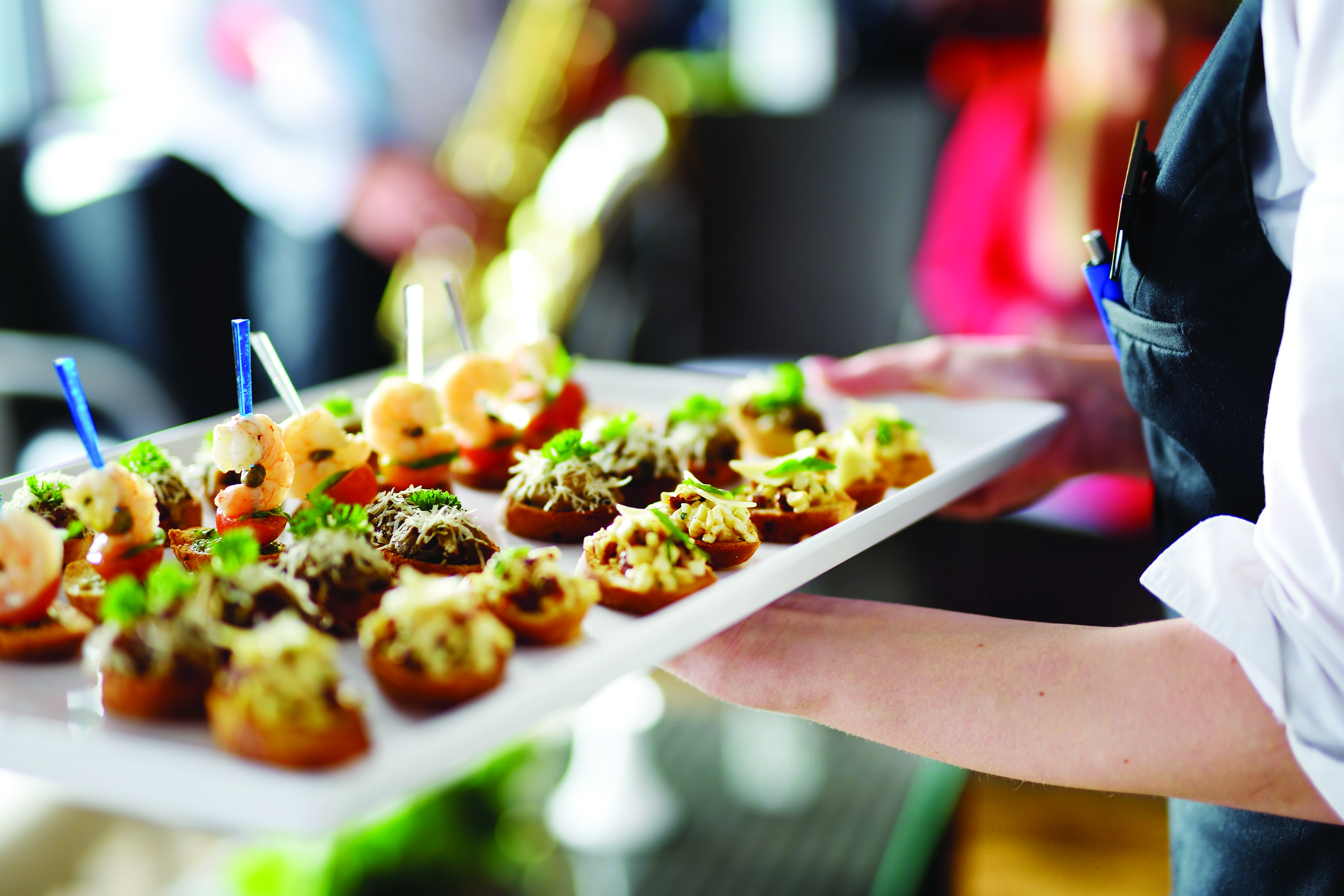 Delicious canapes for your private event at Restoration Yard