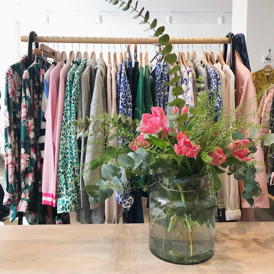 Clothes rail of womenswear in Biscuit Edinburgh