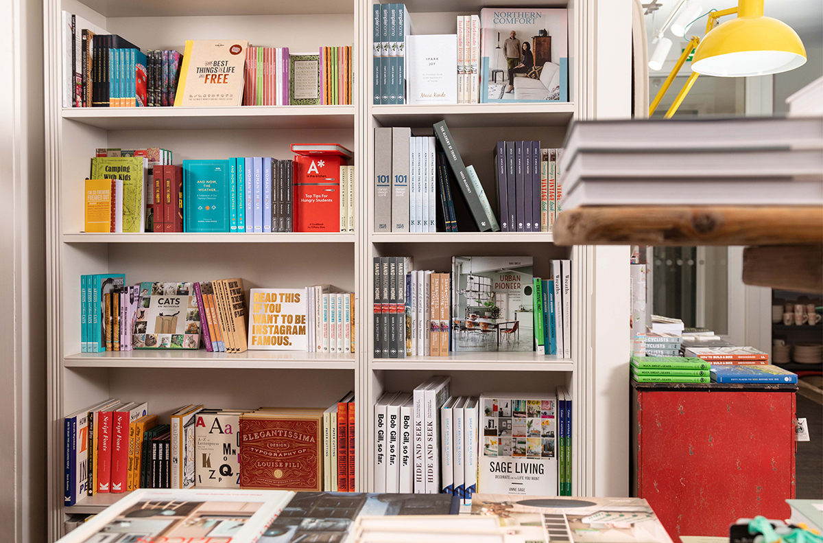 Shop books and stationery at restoration yard