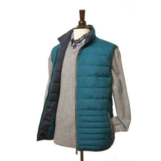 Lightweight Quilted Gilet in Teal by Vedoneire