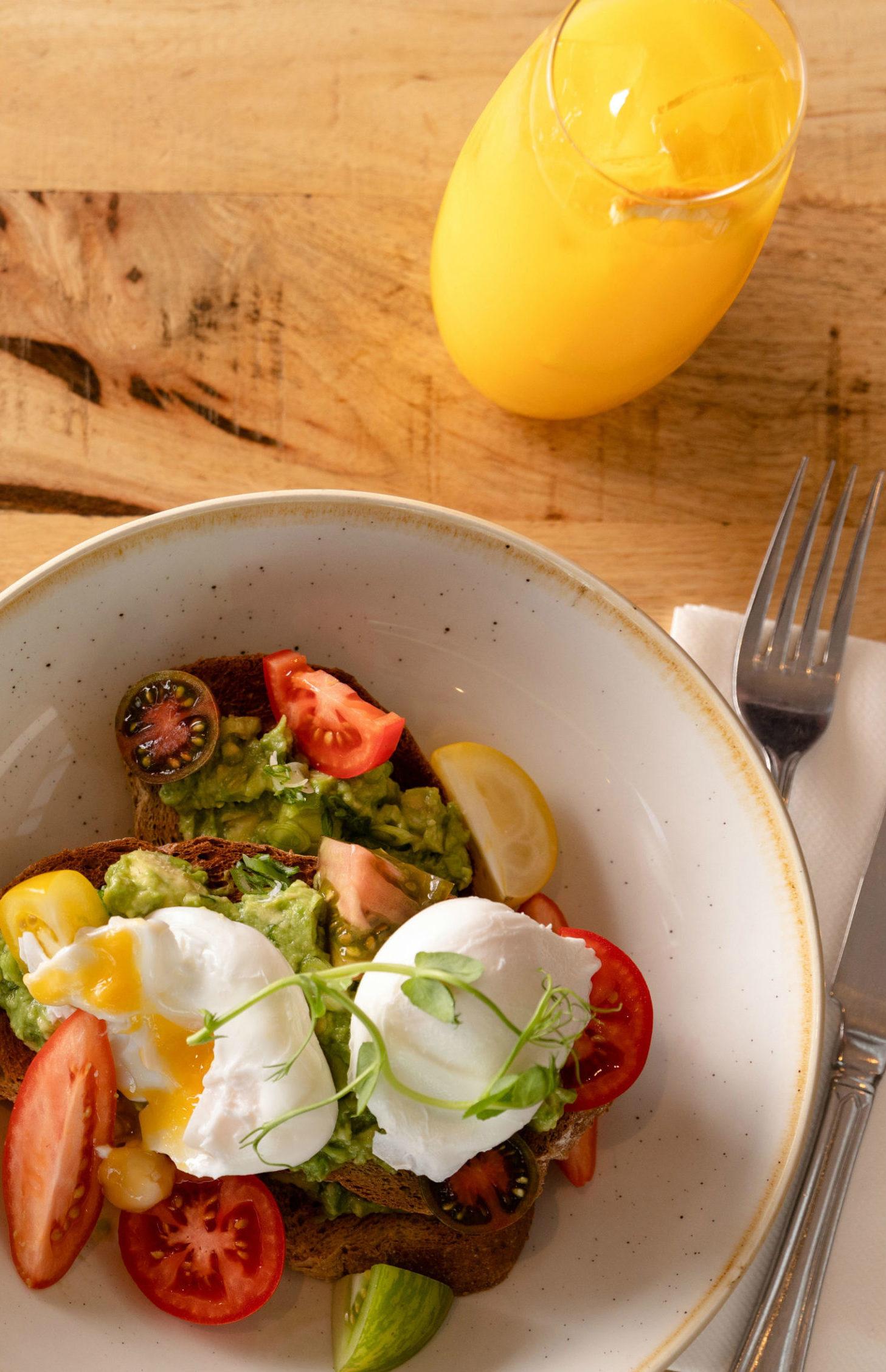 Breakfast Eggs at The Kitchen, Restoration Yard