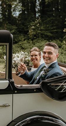 Louise and Mark Wedding Testimonial Restoration Yard