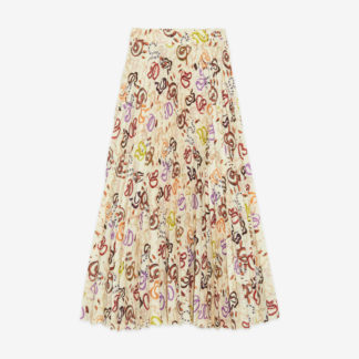 Long Pleated Gonna skirt with Snake by Ottod'Ame   Restoration Yard