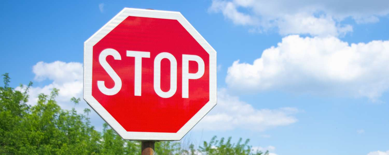 Stop Sign Wellbeing Restoration Yard