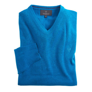 Vedoneire V-Neck Cotton Jumper Poolside