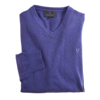 Vedoneire V-Neck Cotton Jumper Cornflower