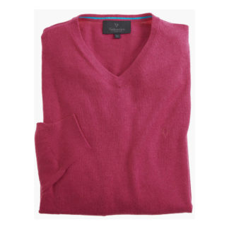 Vedoneire V Neck Cotton Jumper Crackle Pink