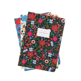 Wild Rose Stitched Notebooks By Rifle Paper | Restoration Yard