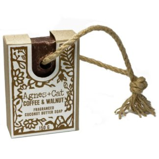 Agnes and Cat Coffee and Walnut Soap on a Rope | Restoration Yard