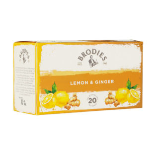 Brodies Lemon & Ginger Tea Bags | Restoration Yard