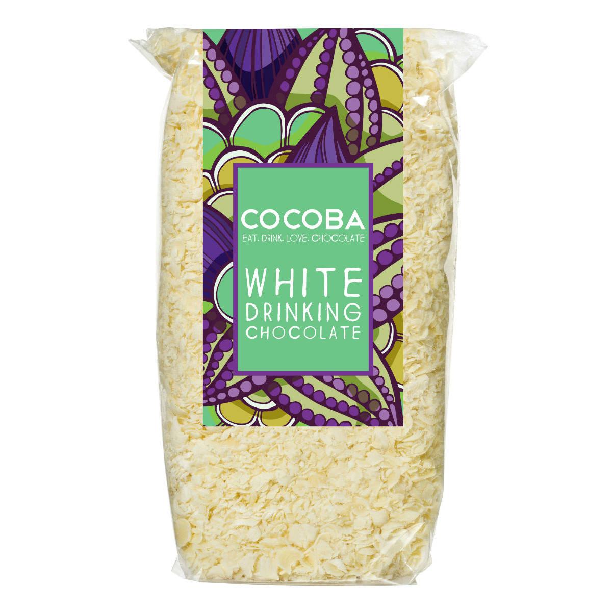 Cocoba White Drinking Chocolate Flakes   Restoration Yard