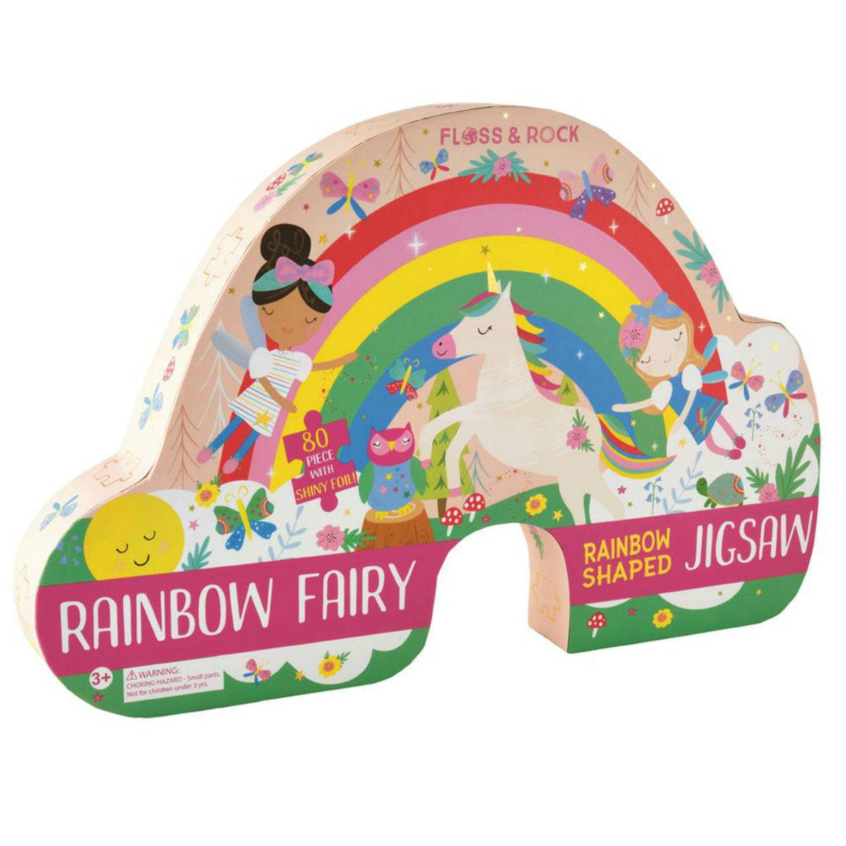 Floss and Rock 80 Piece Jigsaw Rainbow Fairy | Restoration Yard
