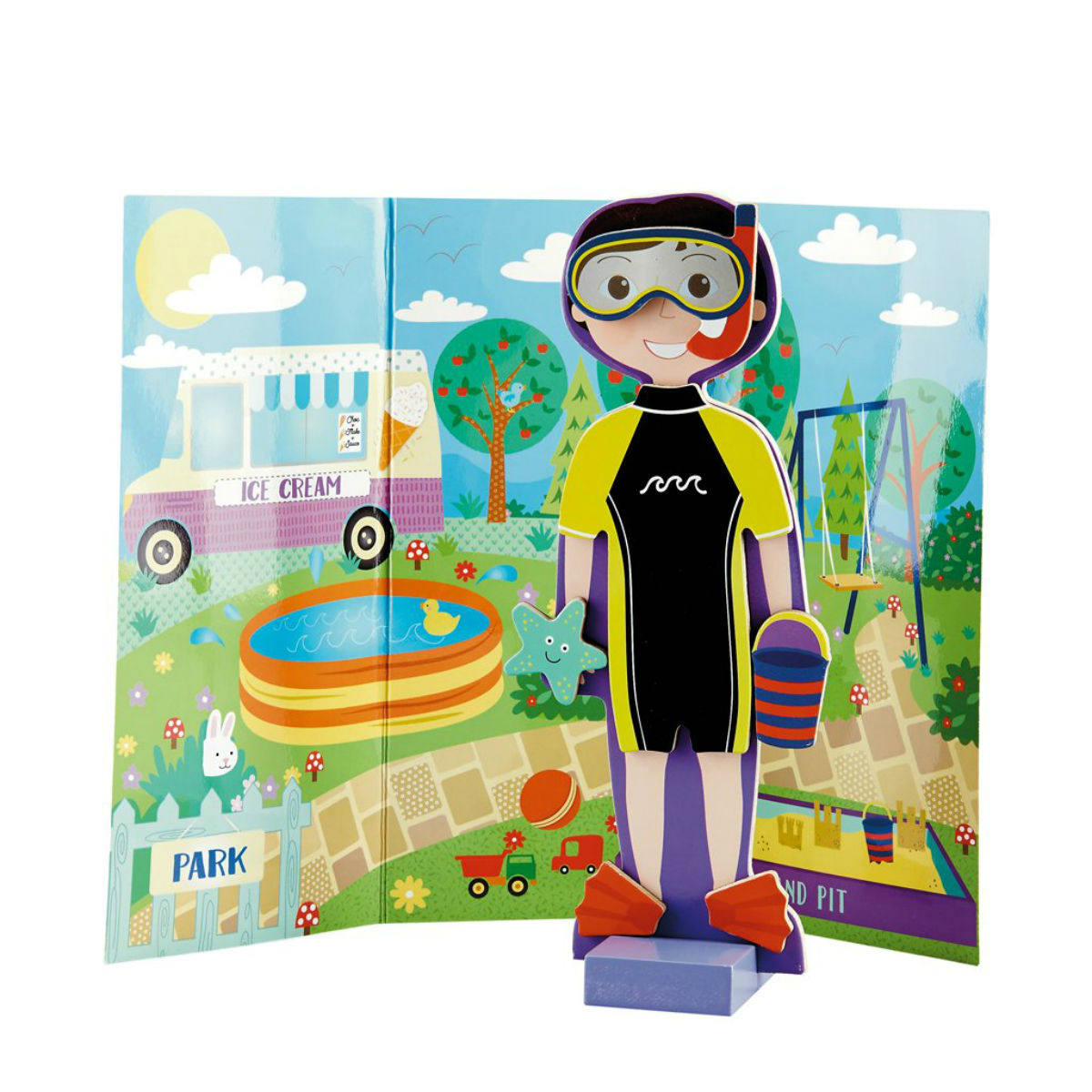 Floss and Rock Wooden Magnetic Dress Up Doll Alfie Restoration Yard