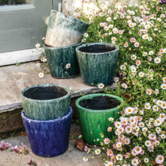 Dutch Pots Green and Blue Assorted By Grand Illusions | Restoration Yard
