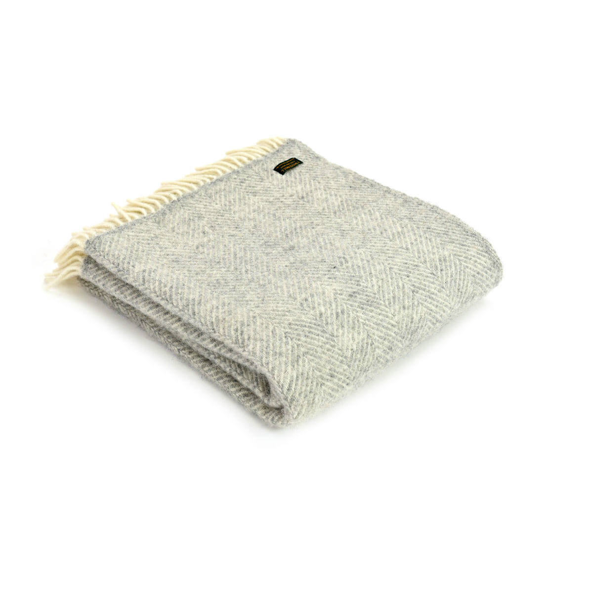 Fishbone Silver Grey Lifestyle Throw | Restoration Yard