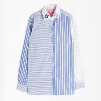 Dover Shirt Blue Stripes By Vilagallo | Restoration Yard