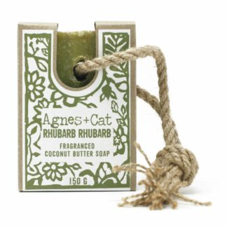 Agnes and Cat Rhubarb Soap On A Rope | Restoration Yard