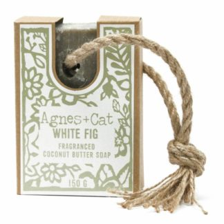 Agnes and Cat White Fig Soap On A Rope | Restoration Yard