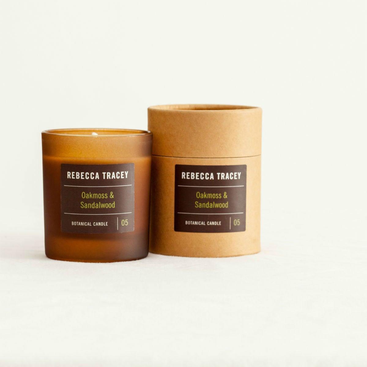 Rebecca Tracey Oakmoss and Sandlewood Botanical Candle | Restoration Yard