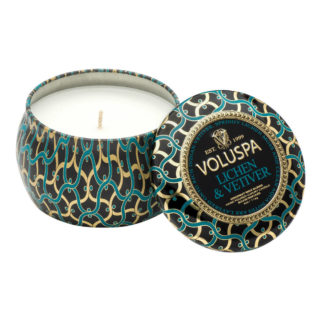 Noir Lichen and Vetiver Mini Tin Candle By Voluspa | Restoration Yard