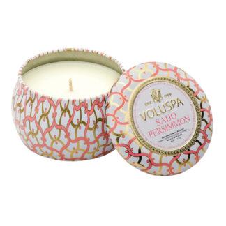Saijo Persimmon Mini Tin Candle By Voluspa | Restoration Yard