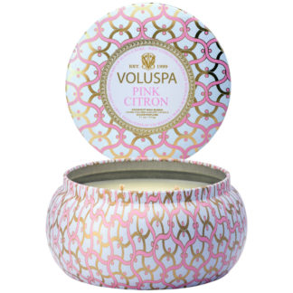 Blanc Pink Citron 2 Wick Tin Candle By Voluspa | Restoration Yard