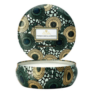 Japonica French Cade Lavender 3 Wick Tin Candle By Voluspa | Restoration Yard