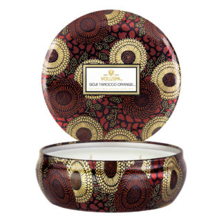 Japonica Goji Tarocco Orange 3 Wick Tin Candle By Voluspa | Restoration Yard