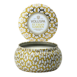 Elysian Garden 2 Wick Tin Candle By Voluspa | Restoration Yard