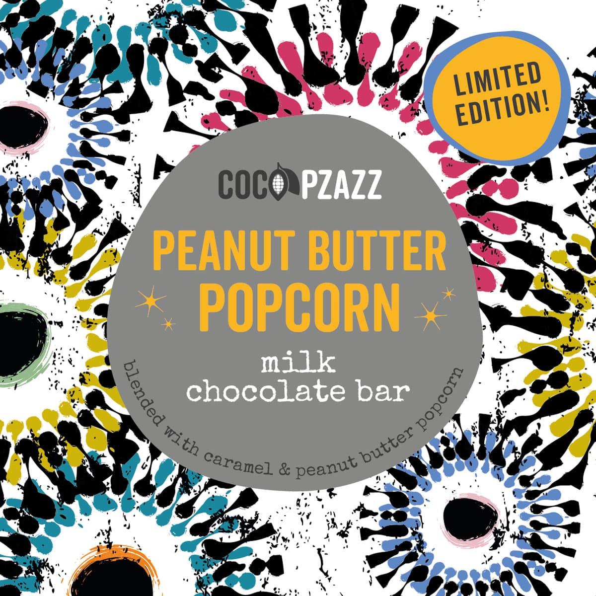 Coco Pzazz Peanut Butter Popcorn Milk Choc Bar | Restoration Yard