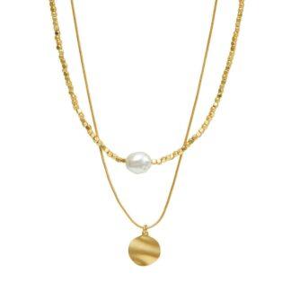 Dansk Copenhagen Audrey 2 in 1 Necklace Gold Plating | Restoration Yard