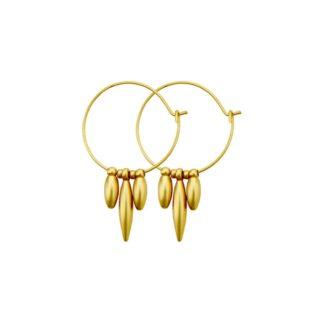 Dansk Copenhagen Daisy Bloom Earring Gold Plating | Restoration Yard