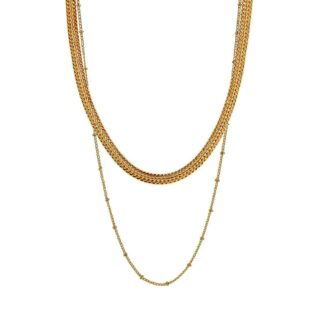 Indian Summer Chain Necklace Gold Plating | Restoration Yard