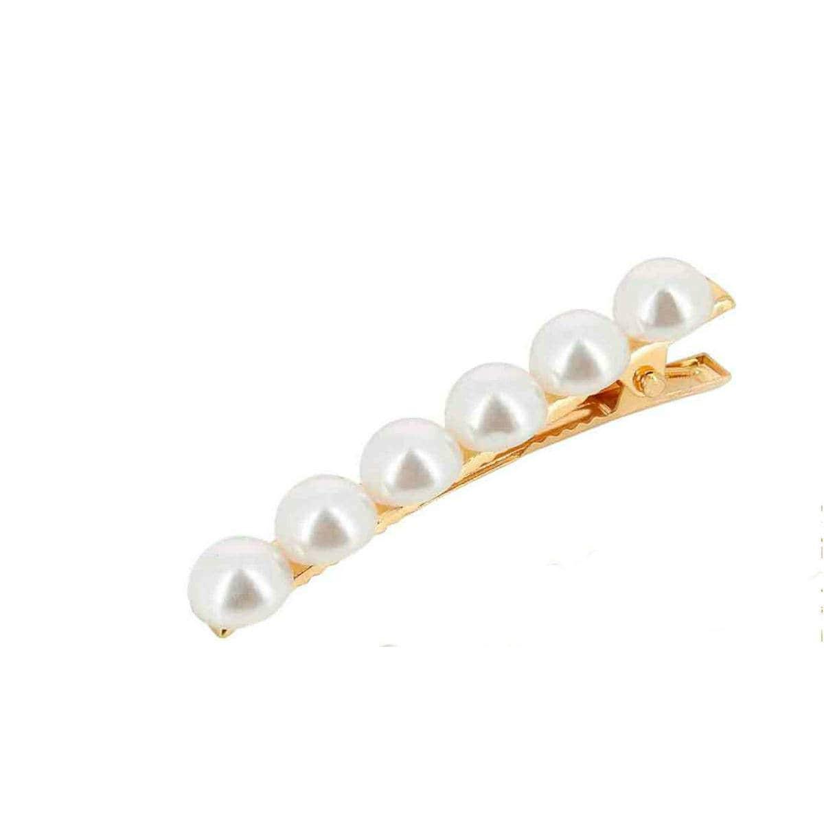 Dansk Large Pearls Single Strand Hair Clip   Restoration Yard