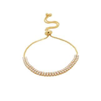 Dansk Copenhagen Shimmer Line Bracelet Gold | Restoration Yard