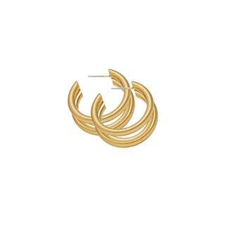 Dansk Copenhagen Tara Triple Earring Gold Plating | Restoration Yard