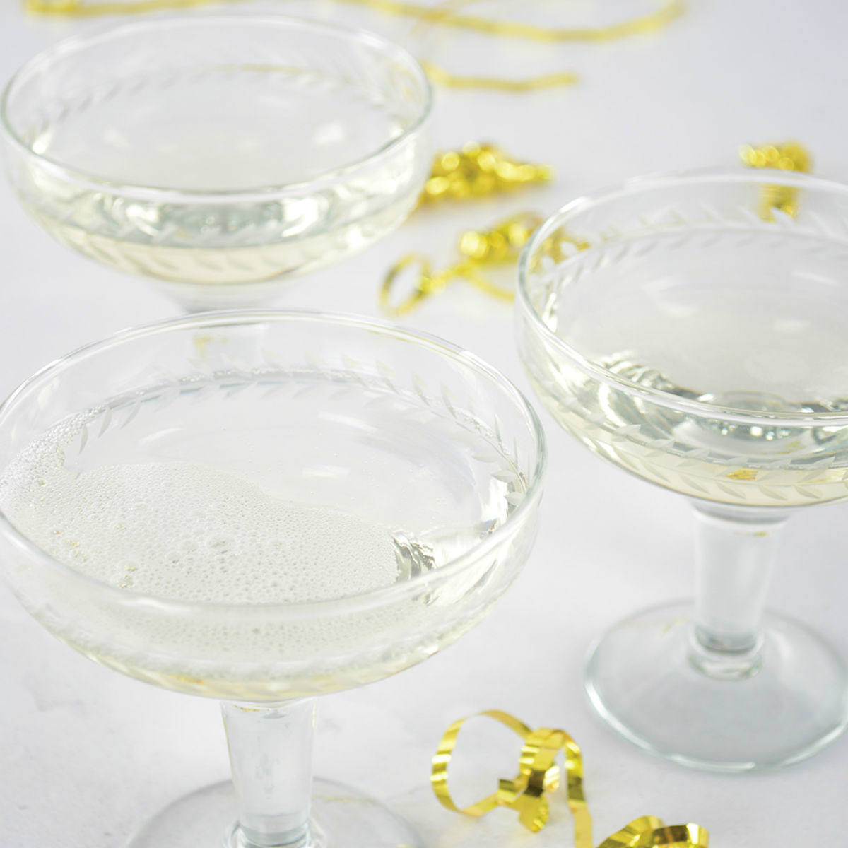 Champagne Coupe Etched Glass by Grand Illusion | Restoration Yard