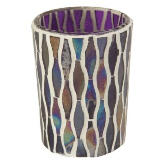 Ian Snow Lustre Glass Mosaic Votive Purple | Restoration Yard
