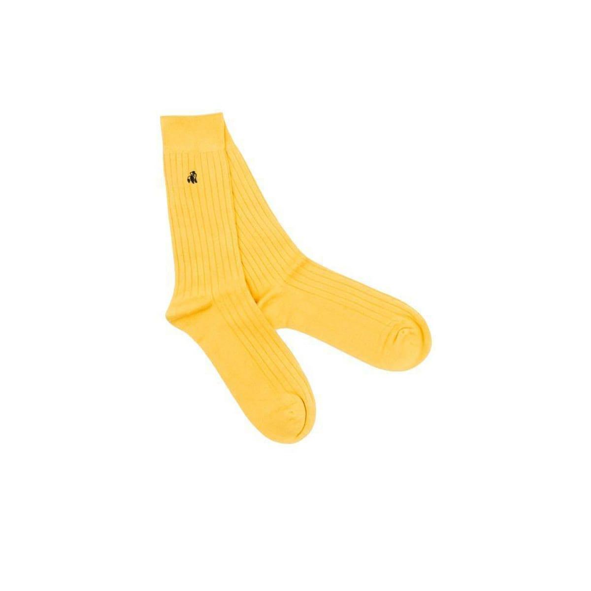 Bubblebee Yellow Socks by Swole Panda | Restoration Yard