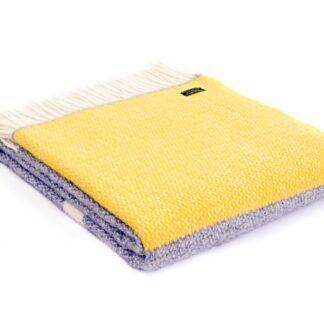 Tweedmill Throw Illusion Grey Yellow Panel | Restoration Yard