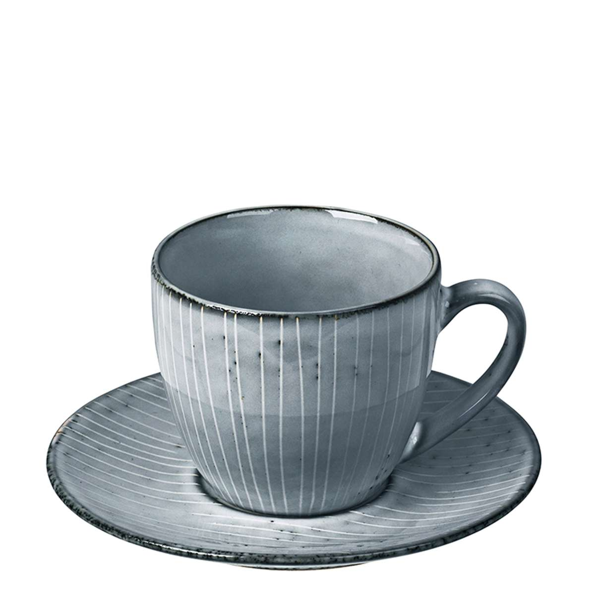 Broste Copenhagen Cup and Saucer in Nordic Sea Blue