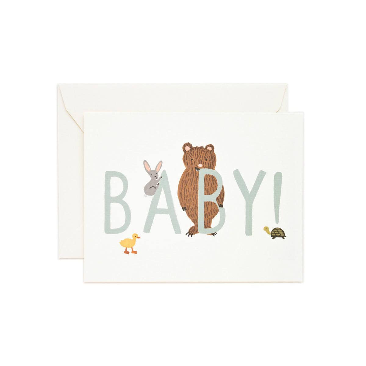 Baby Mint Greeting Card by Rifle Paper | Restoration Yard