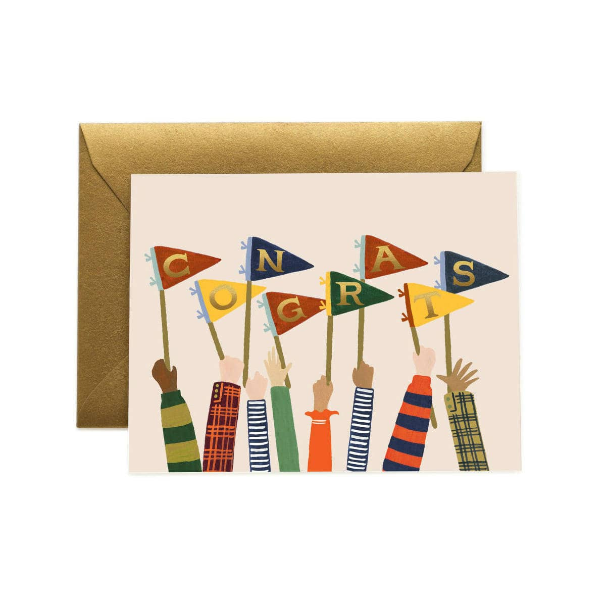 Congrats Pennants Greeting Card by Rifle Paper   Restoration Yard