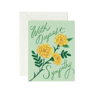 Marigold Sympathy Greeting Card by Rifle Paper | Restoration Yard