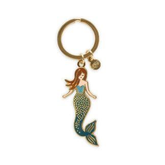 Mermaid Enamel Keychain by Rifle Paper   Restoration Yard