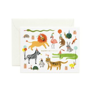 Party Animals Greeting Card by Rifle Paper | Restoration Yard