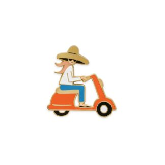 Scooter Enamel Pin by Rifle Paper   Restoration Yard